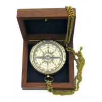 SeaClub Kompass mit Ankergravur in Holzbox