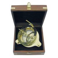SeaClub Sonnenuhr-Kompass in Holzbox