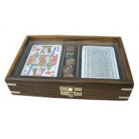 SeaClub Karten-Würfel-Box mit Glas