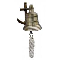 SeaClub Glocke mit Anker-Wandhalterung antik