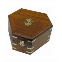 Sea Club Holzbox für Sextant 17,5 x 15,5 x 8,5 cm