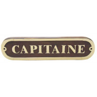 Sea Club Türschild Capitaine Holz