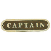 Sea Club Türschild Captain Holz