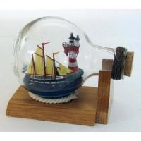 SeaClub Flaschenschiff mit Leuchtturm