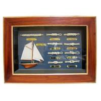 SeaClub Knotentafel 36 x 26 cm Holz