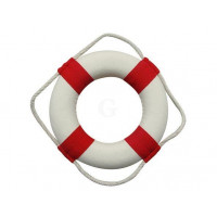 SeaClub Rettungring rot/weiß 14 cm