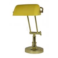 SeaClub Bankers-Lampe Höhe 36/43 cm gelb