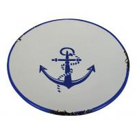 Sea Club Teller Ankerdesign klein