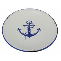 Sea Club Teller Ankerdesign groß