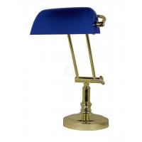 SeaClub Bankers-Lampe Höhe 36/43 cm blau