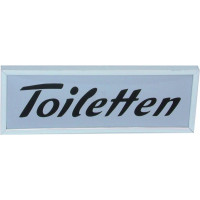WAS Hinweisschild Toiletten Linkspfeil