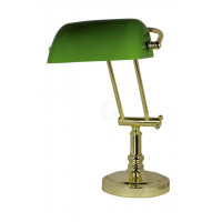 SeaClub Bankers-Lampe Höhe 36/43 cm grün