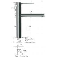 Knauss Armatur xara Hebelmischer Spültischbatterie A 225 - H 200