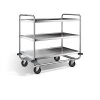 Blanco Servierwagen - mit Kunststoffrollen