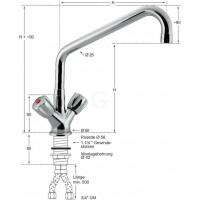 Knauss Armatur profi Säulen Einlochbatterie A 450 - H 250