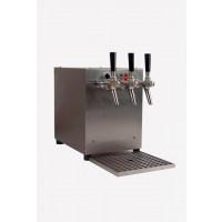 Gastro Schankanlagen Glühweindurchlauferhitzer 3 kW, 3-leitig, integriertem Luftkompressor