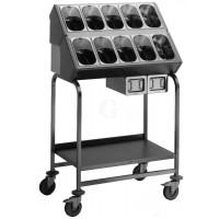 BLANCO Besteck- und Tablettwagen BT 800 stahlverzinkte Rollen ohne Serviettenspender