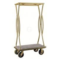 WAS Gepäck-Transportwagen Höhe 180 cm grau, Platinium Goldfarben