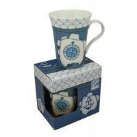 SeaClub Tasse/Kaffeebecher Windrose in Geschenkbox