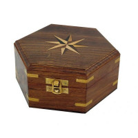 SeaClub Holzbox mit Windrose-Inlay mittel
