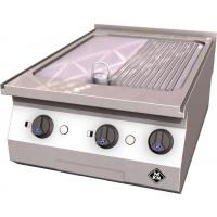 MKN Counter-SL Elektro-Griddleplatte 1 Supra halb geriffelt