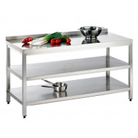 Edelstahl Arbeitstisch mit Zwischenboden Serie Variabel-20