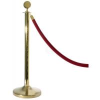 Contacto Schwarzes Seil 150 cm passend zu Absperrpfosten, gold