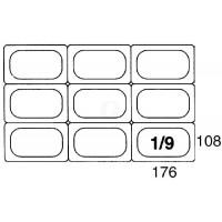 Contacto GastroNorm-Behälter GN 1/9 Deckel zu 5519 Polypropylen