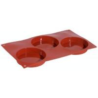 Contacto Silikon-Backmatte, BISKUIT mit 3 Formen