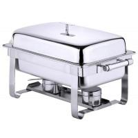 Contacto Chafing Dish GN 1/1, hochglänzend, zusätzl. elekt. Heizplatte