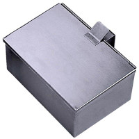 Contacto Aschenbehälter, matt gebürstet, 2,5 l