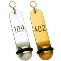 Contacto Hotel-Schlüsselanhänger, klassisch, silber