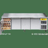 KBS Bäckereikühltisch BKTF 4020 M mit Arbeitsplatte und Aufkantung