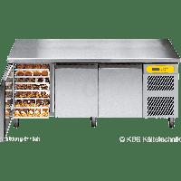 KBS Bäckereikühltisch BKTF 3020 M mit Arbeitsplatte und Aufkantung