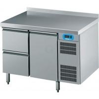 Edelstahl Kühltisch mit 2 Schubladen und 1 Tür von Chromonorm