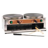 Gastro Crêpesgerät mit 2 Backflächen je Ø 350 mm