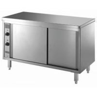 Gastro-Steel Edelstahl Wärmeschrank mit Schiebetüren und Zwischenboden