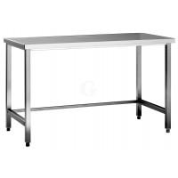 Edelstahl Arbeitstisch ohne Grundboden Serie Standard-700 mm-1300 mm-ohne Aufkantung-20