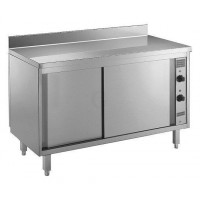 Gastro-Steel Edelstahl Wärmeschrank, Arbeitsplatte hinten aufgekantet