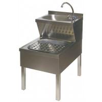 Edelstahl Handwaschbecken- und Ausgusskombination HWA Gastrosteel