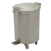 Gastro-Steel Edelstahl Abfalleimer mit Hubdeckel 50 Liter