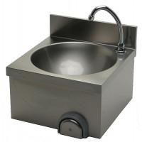 Edelstahl Handwaschbecken mit Kniebedienung für Wandmontage IP0074 von Gastro-Steel