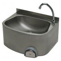 Edelstahl Handwaschbecken mit Kniebedienung für Wandmontage IP0073 von Gastro-Steel