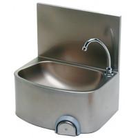Edelstahl Handwaschbecken mit Kniebedienung für Wandmontage IP0029 von Gastrosteel