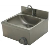 Edelstahl Handwaschbecken mit Kniebedienung für Wandmontage IP0076 von Gastro-Steel