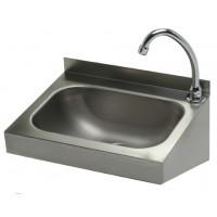Edelstahl Handwaschbecken mit Kniebedienung für Wandmontage IP0032 von Gastro-Steel