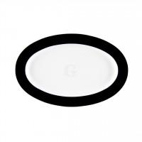 Seltmann Weiden Meran Springcolors Platte oval 25 cm, schwarz