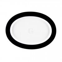 Seltmann Weiden Meran Springcolors Platte oval 28 cm, schwarz