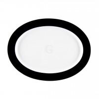 Seltmann Weiden Meran Springcolors Platte oval 31 cm, schwarz