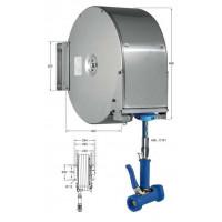 Knauss Armatur Power Reel Trinkwasser-Schlauch blau Schlauchaufroller geschlossen 1/2 Zoll L 15 m-20